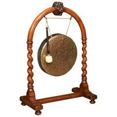 Late 19th Century Walnut Dinner Gong