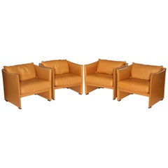 Mario Bellini Tilbury Leather Armchairs