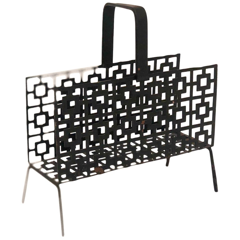 Midcentury Perforated Metal Letter Holder For Sale