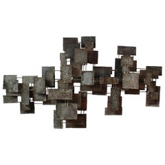 Monumental Brutalist Wall Sculpture by Silas Seandel, 1960s, USA