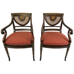 Super Elegant Pair of Hollywood Regency Smith & Watson Armchairs
