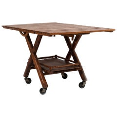 Rustic American Old Hickory Tea or Bar Cart
