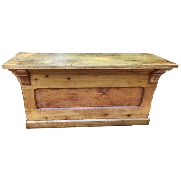 Antique Candy Store Wood Counter For Sale