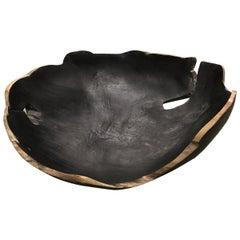 Black Teak Bowl, Indonesia, Contemporary