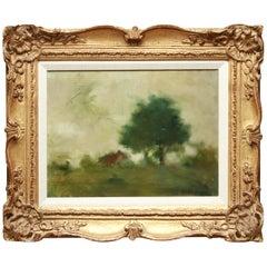 Samuel Edmund Oppenheim 'Impressionist Landscape' Framed Oil Painting