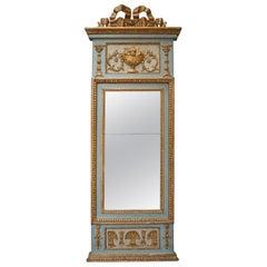 Elegant Period Gustavian Pier Mirror