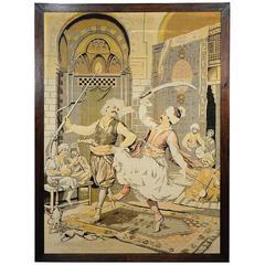 Large Arabian Gobelin with Dancing Turkish Dervishes, circa 1900