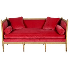 French Louis XVI Daybed Settee Chaise