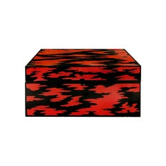 1970s Japanese Red and Black Lacquered Jewelry Box