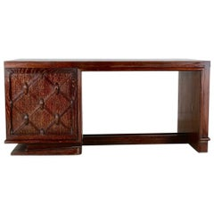 French Art Deco or Moderne Cerused Desk Attributed to Charles Dudouyt