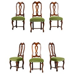 Set of Six Restored English Regency Style Dining Chairs
