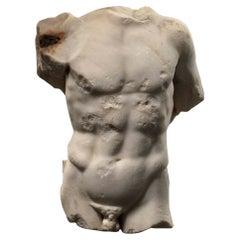 A Roman Marble Male Torso, circa 2nd Century AD