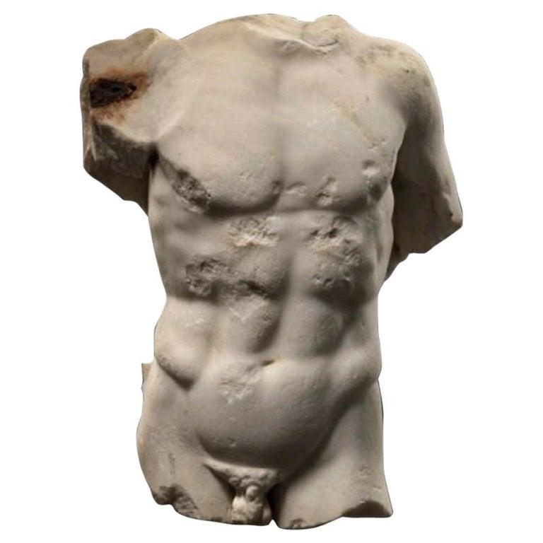 A Roman Marble Male Torso, circa 2nd Century AD 1