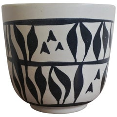 Mid-Century Modern Ceramic Planter Vase by Elchinger, France, 1950s