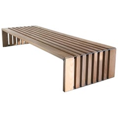 Mid-Century Modern Slat Bench by Walter Antonis for Spectrum, 1970s