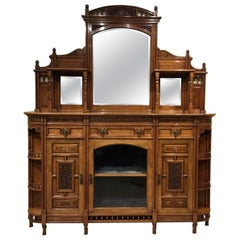 Walnut Aesthetic Period Chiffonier/Side Cabinet by Ogdens of Manchester
