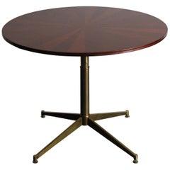 Ignazio Gardella Italian Wood Brass Mid-Century Modern Table for Azucena, 1950s
