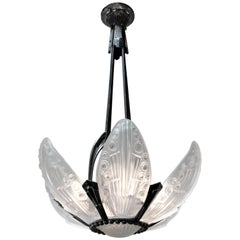 Georges Leleu French Art Deco Chandelier