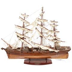 'Cutty Sark' China Clipper Ship Model in Teak, Mahogany and Ebony