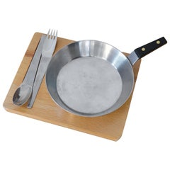 Pan with a Fork and a Spoon on a Tray by Carl Auböck