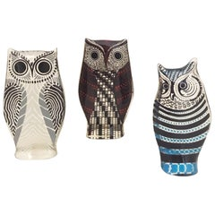 Set of Three Lucite Owls by Abraham Palatnik, 1970s