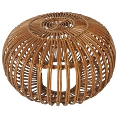 Wicker Ottoman by Franco Albini for Vittorio Bonacina