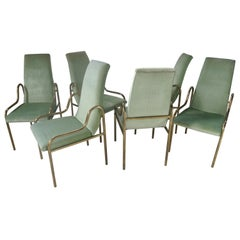 Set of Brass Dining Chairs by Mastercraft