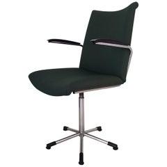 Moss Green Desk Chair, Model 3314 by de Wit  Schiedam, 1960s