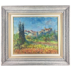 Provencal Village Watercolor Painting by Victor Ferreri