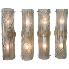Set of Four Murano Blown Glass Wall Sconces