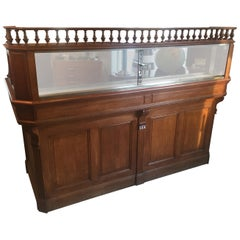 French Oak Antique Apothecary Cabinet, Pharmacy Cabinet, 1900s