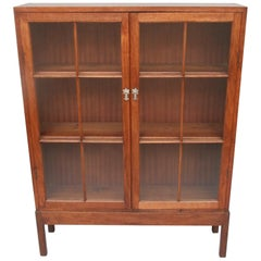 Walnut Cotswold School Display Cabinet