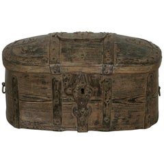 18th Century Swedish Bentwood Travel Box or Chest