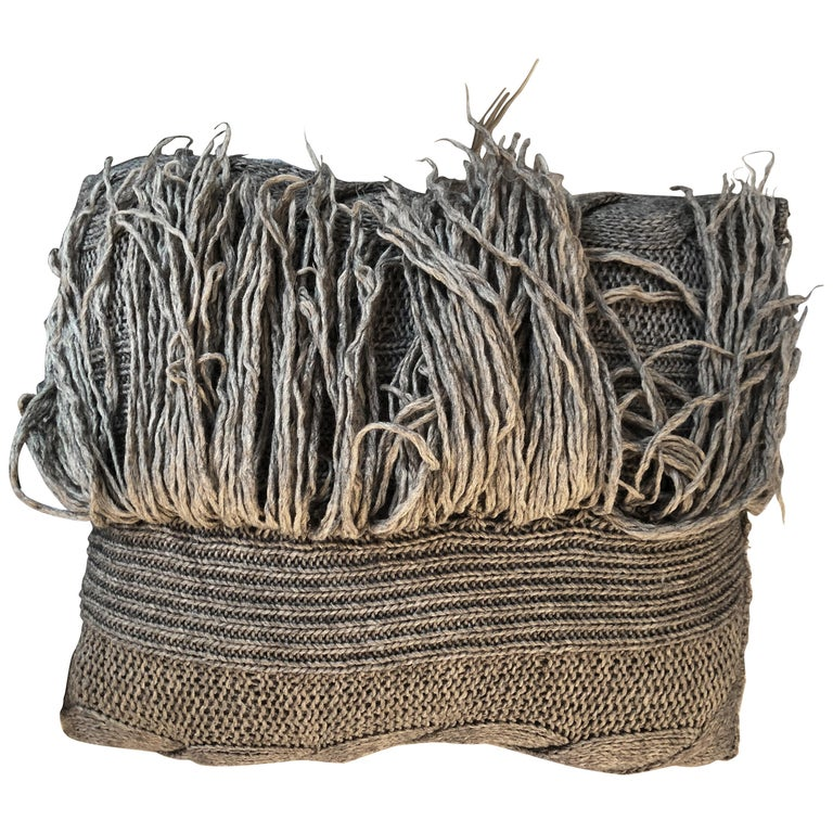 """Asti"" Handwoven Merino Wool Pillow For Sale"