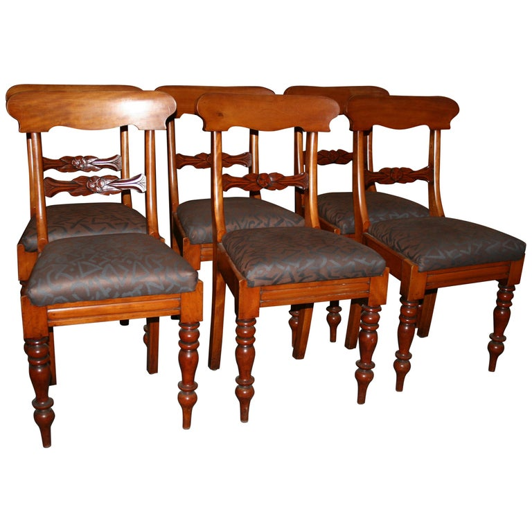 Antique Dining Room Chair Group, Set of 6