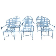 Six Mario Papperzini for John Salterini Patio Chairs