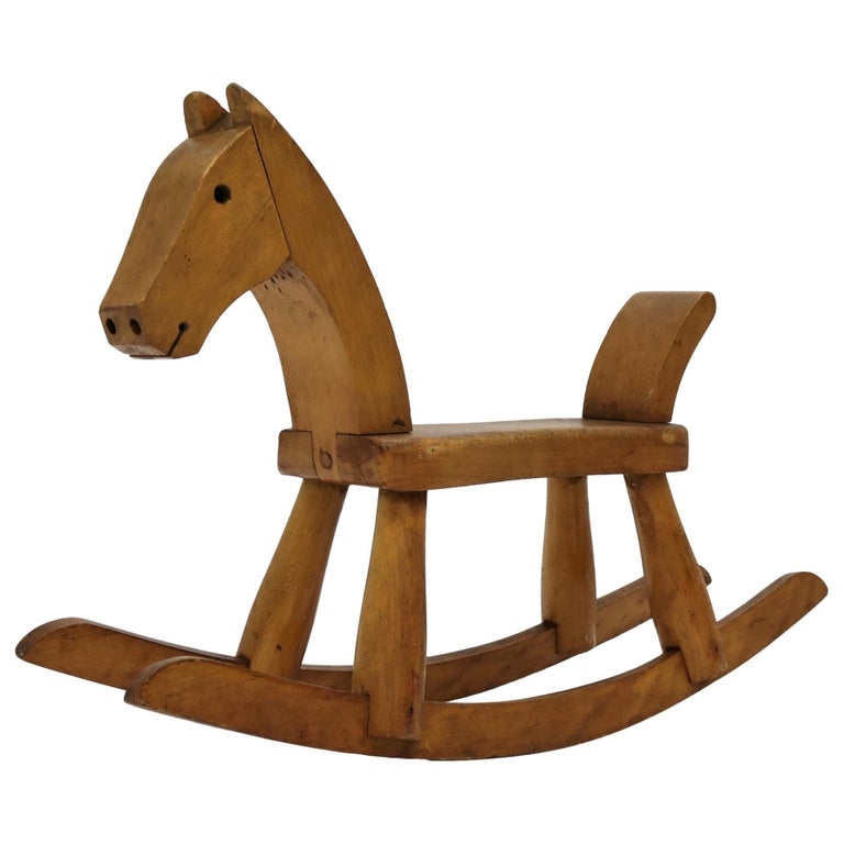 Vintage Kay Bojesen Rocking Horse from the 1930s For Sale