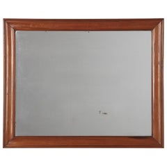 French Louis Philippe Walnut Framed Mirror, Mid-1800s