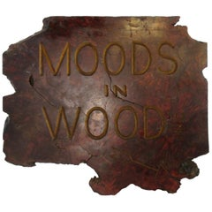 1970s Mood In Wood Sign
