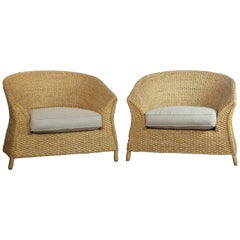 Pair of Barrel Back Chair