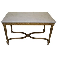 Antique French Giltwood Rectangular Centre Table or Sofa Side Table