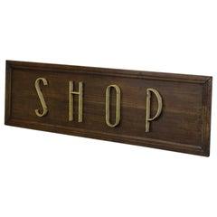 Art Deco Shop Sign, circa 1920s