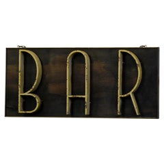 Art Deco Bar Sign, circa 1920s