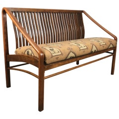 Modernist Bent Oak Settee or 2-seat sofa after Edward Wormley