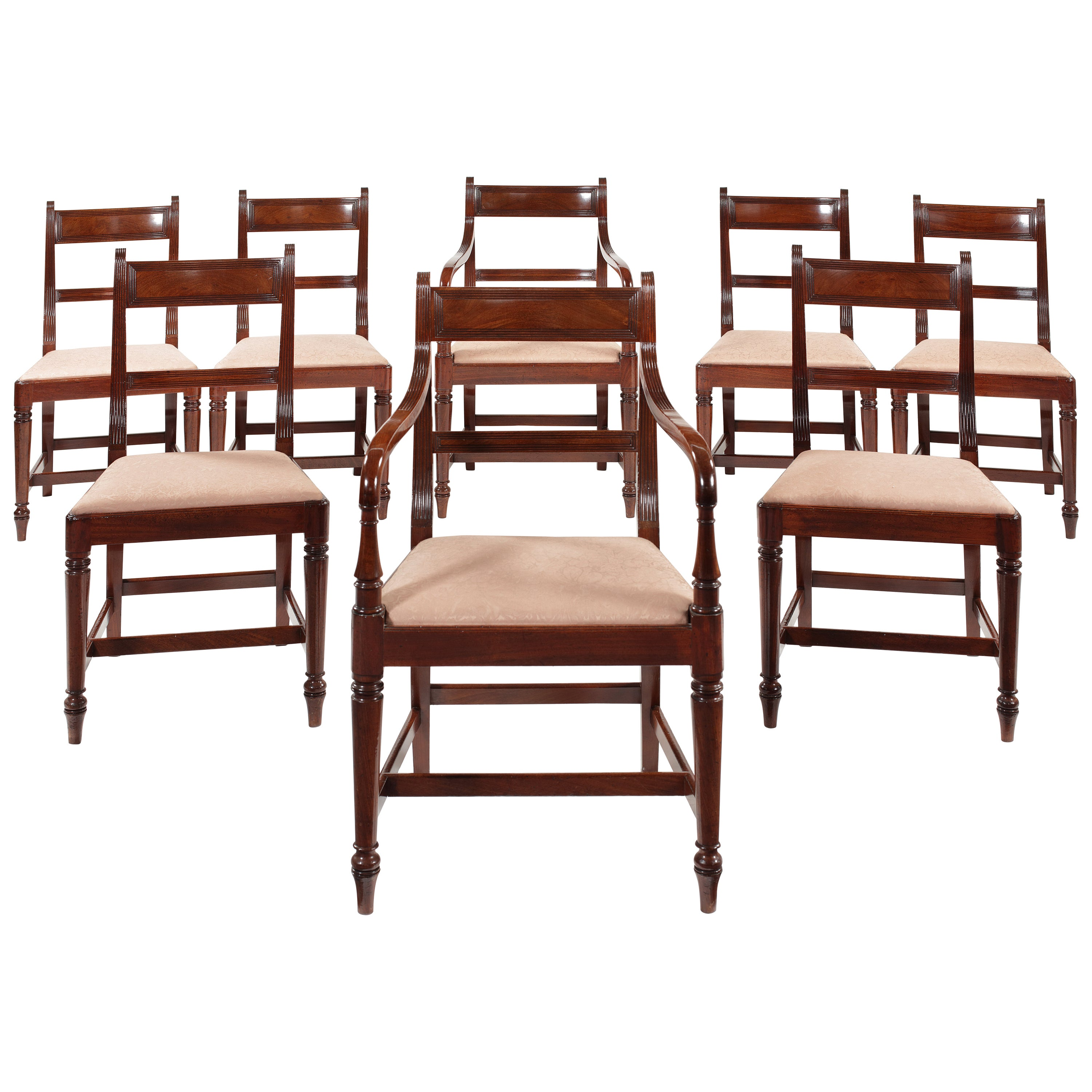 9190ca9d3f55 Set of Eight Regency Mahogany Dining Chairs at 1stdibs