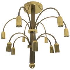 Vintage Brass Sciolari Chandelier, 1960s