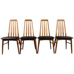 Niels Koefoed Teak Dining Chair Set