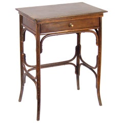 Art Nouveau Sewing Table Fischel Nr. 6, circa 1910, Thonet Style