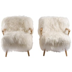 Pair of Sheepksin Armchairs