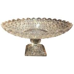 Fabulous Cut Glass Pedestal Centre Bowl